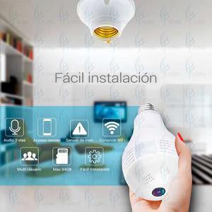 Camara Wifi 360 Grados Foco 2 Mp App Espia Memoria 16 Gb