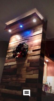 Muro de madera de tarima de 1.20 cm x 2.70cm