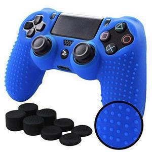 Ps4 Funda De Silicona Texturizada (azul)