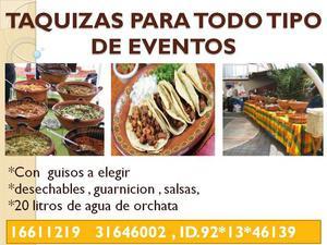 Taquizas Para Eventos En Jalisco.