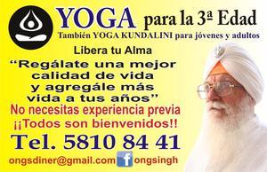 Yoga Kundalini para personas de la 3a edad y también para
