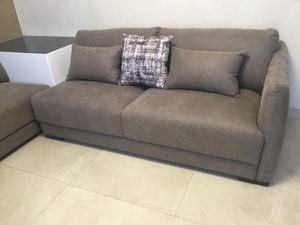 vendo sala de 3 piezas y sillón individual de piel