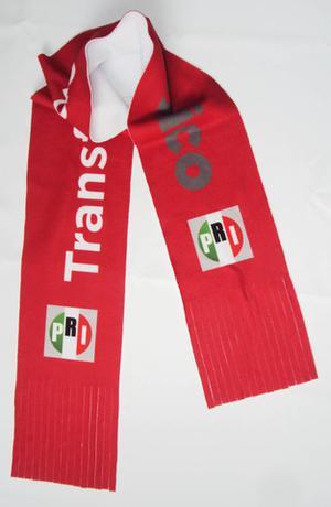 Bufanda con logotipos impresos en sublimación