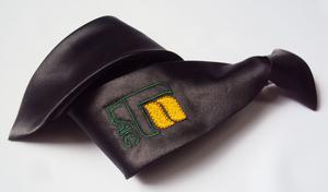Corbata escolar para niño con logotipo bordado