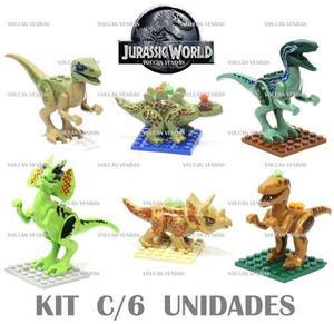 Jurassic World Tipo Lego Set De 6 Dinosaurios En Caja Oferta