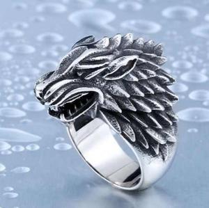 Anillo Acero Inox Lobo Invierno Game Of Trones Invernalia
