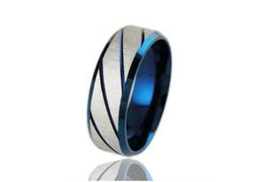 Anillo Caballero Acero Pavonado Azul - 170