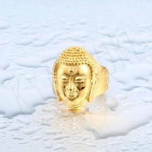 Anillo Caballero Buda Gold Acero Inoxidable Classic Gold