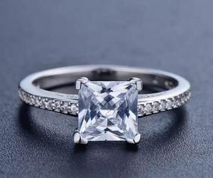 Anillo Compromiso 100% Plata 925 Diamante Cz 2ct Top Envío