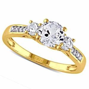 Anillo Compromiso Oro Amarillo 18kt Envío Gratis Gold