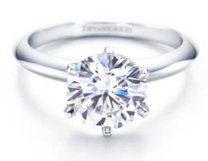 Anillo Compromiso Oro Blanco 14k Diamante De Grafito 1 Cts