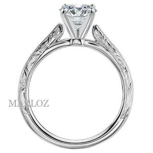 Anillo Compromiso Oro Blanco 18kt Diamante Natural.20ct