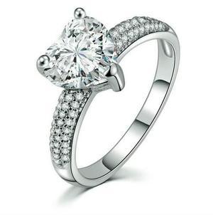 Anillo Compromiso, Promesa Corazón Swarovski Elements,