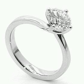 Anillo De Compromiso Oro 14k Diamante Natural.45ct