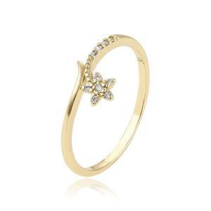 Anillo Oro 14k Lam Floral Con Zirconias Calidad Diamante #9