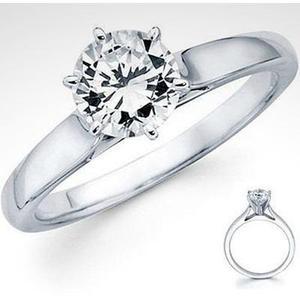 Anillo Oro Blanco 18kt Diamante Ruso Premium Envío Gratis