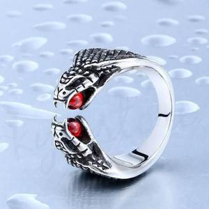 Anillo Serpiente Cobra Acero Inoxidable 316l Biker Rocker