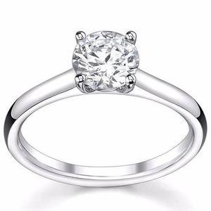 Anillo Solitario Boda Compromiso Promesa Plata 925 Diamante