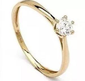 Anillo Solitario De Oro De 14k Diamante Cultivado De 30 Pts