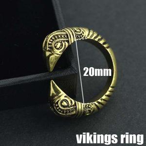 Anillo Vikings Hombre Vikingo Ajustable