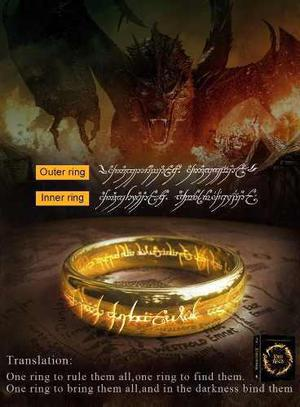 El Señor De Los Anillos Hobbit Anillo De Poder Titanio