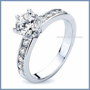 G C+ Anillo De Compromiso Diamante Natural.25ct Oro 14k 070