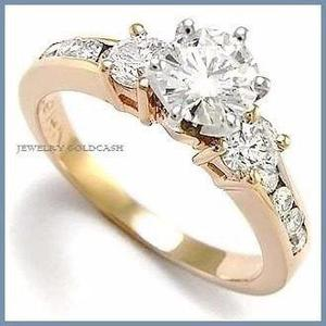 G C+ Anillo De Compromiso Diamante Natural.30ct Oro 18k 158