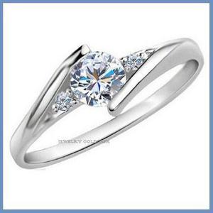 G C+ Anillo De Compromiso Diamante Natural.35ct Oro 18k 336