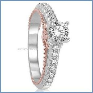 G C+ Anillo De Compromiso Diamante Natural.40ct Oro 18k 281