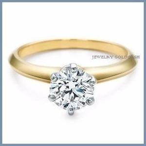 G C+ Anillo De Compromiso Diamante Natural.45ct Oro 10k 166