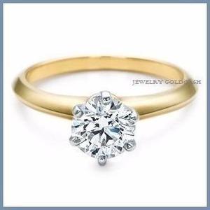 G C+ Anillo De Compromiso Diamante Natural.45ct Oro 10k 166