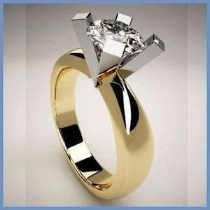 G C+ Anillo De Compromiso Diamante Natural.45ct Oro 14k 195