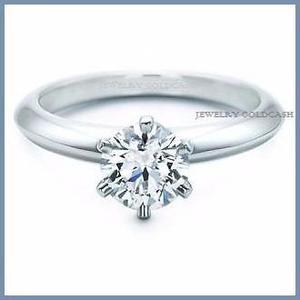 G C+ Anillo De Compromiso Diamante Natural.55ct Oro 18k 268