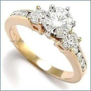 G C+ Anillo De Compromiso Diamante Natural.70ct Oro 18k 333