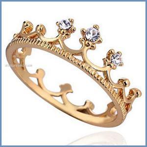 Goldcash.- Corona Anillo De Compromiso Oro Amarillo 18k