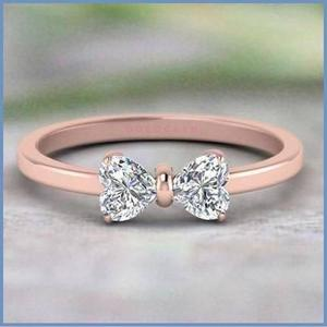 Goldcash.- Cute & Lovely Anillo En Oro Rosa 18k Compromiso