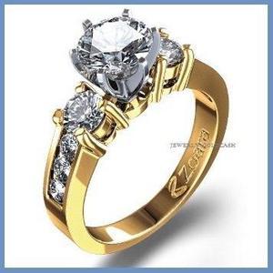 Goldcash.- Elegante Anillo De Compromiso En Oro Amarillo 14k