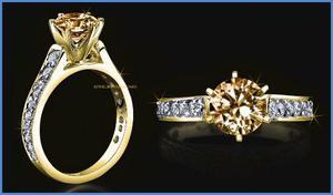 Goldcash.- Sofisticado Anillo De Compromiso Oro Amarillo 14k