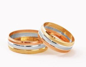 Par De Anillos, Infinito, Oro Sólido De 10 K, Matrimonio