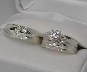Set Anillos Matrimoniales De Plata Ley.925 Varios Modelos