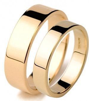 Set Matrimonial En Oro Sólido De 14k.