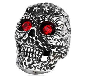 Skull Cráneo Calavera Anillo Acero Inoxidable Br8-263
