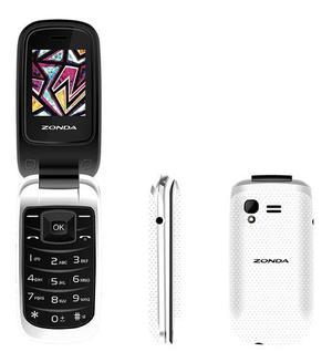 2pz Telefono Celular De Tapa Folder Zm120 Para Telcel Unefon
