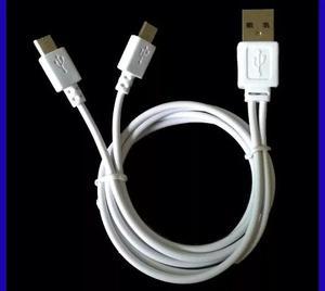 Cable V8 Micro Usb Doble Salida Android