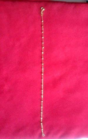 Cadena de Bolitas para Tobillo Chapa de Oro 18 Kt 25 cms
