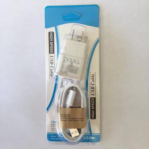 Kit 2 En 1 Cargador De Casa Y Cable V8 5v 1a En Blister