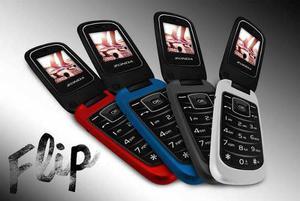 Mayoreo 4 Pz- Telefono Celular De Tapa Folder Flip Zm120