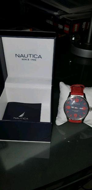Reloj Para Caballero Nautica Rojo Caball - Water Resistant