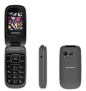 Telefono Celular De Tapa Gris Zm120 Para Adulto Mayor Zonda