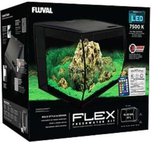 Acuario Fluval Flex 57 Lt Negro